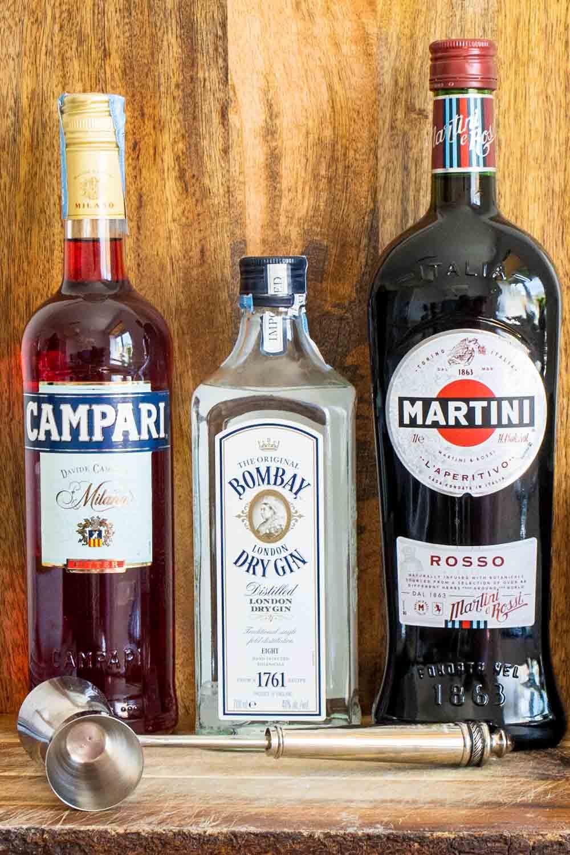 Three Negroni Liquors