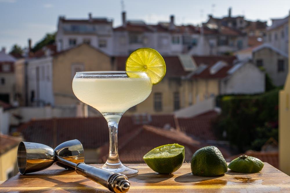 Bacardi Daiquiri on Ledge with Lime