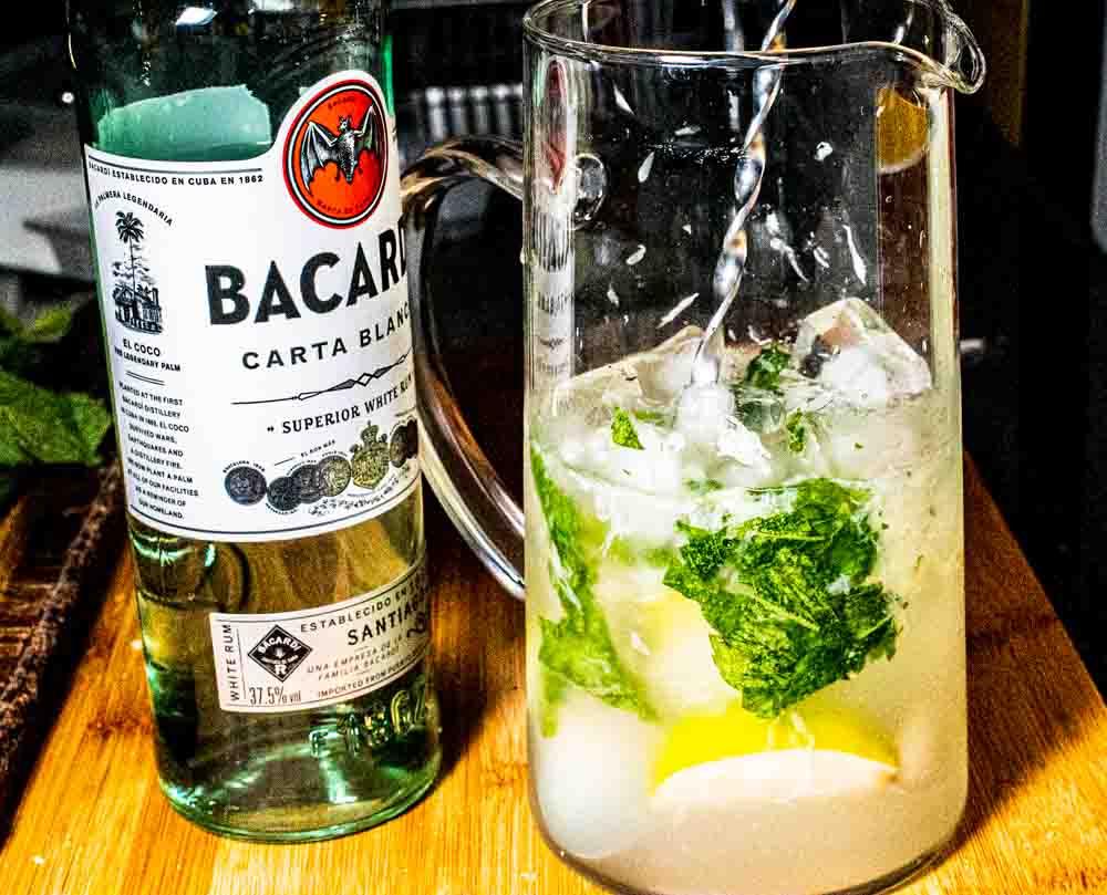 Bacardi Mojito in Glass Pitcher