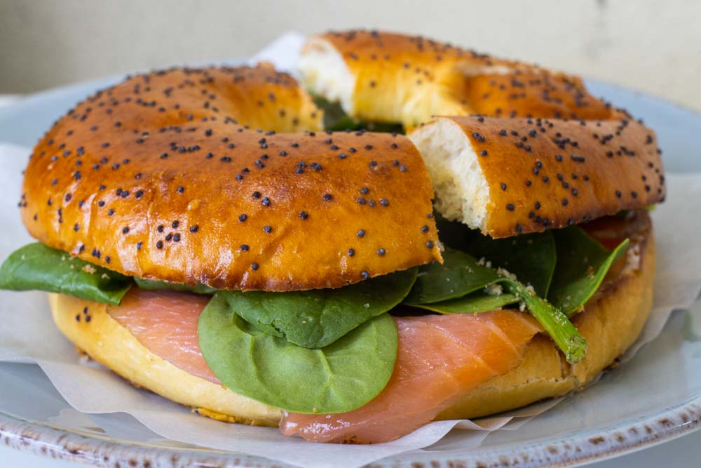 Bagel and Lox at Garagem Cafe in Sintra