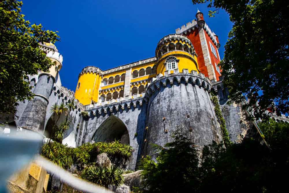 Pena Palace from below in Sintra