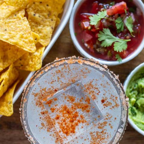 Spicy Margarita with Snacks
