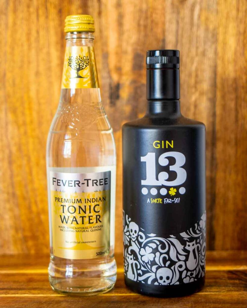 Tonic and Gin Bottles
