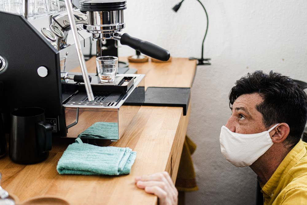 Watching the Coffee at Olisipo Coffee Roasters in Lisbon