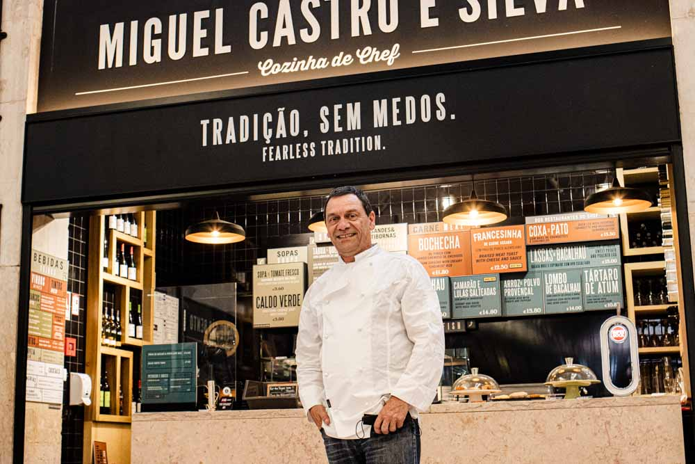 Chef Miguel Castro e Silva at Time Out Market Lisbon