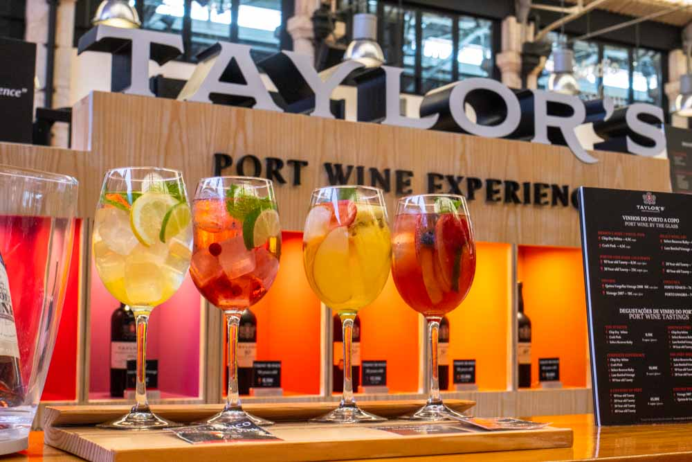 Cocktails at Taylors at Time Out Market Lisbon
