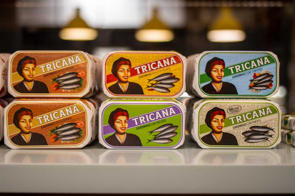 Fish Tins at A Vida Portuguesa at Time Out Market Lisbon