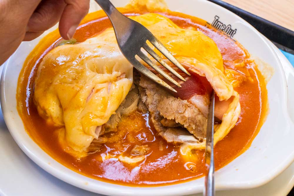 Francesinha at Miguel Castro e Silva at Time Out Market Lisbon