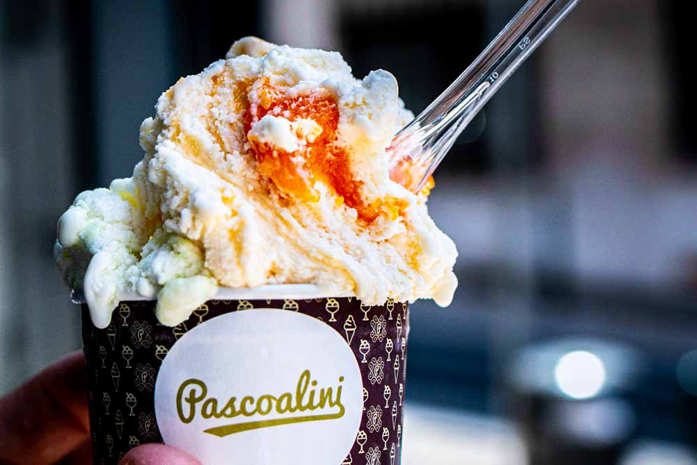 Ice Cream Cup at Pascoalini in Lisbon