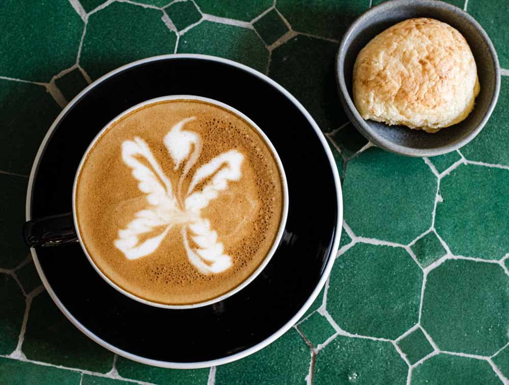Lisbon Cafe - Flat White at Dede's at the Gladstone