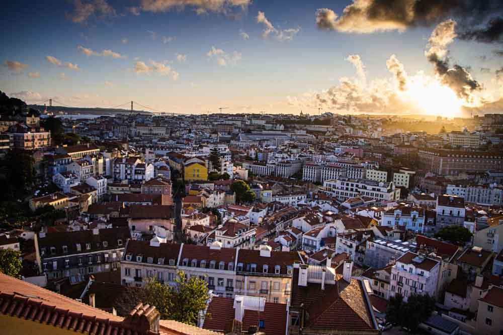Lisbon View from Graca Overlook