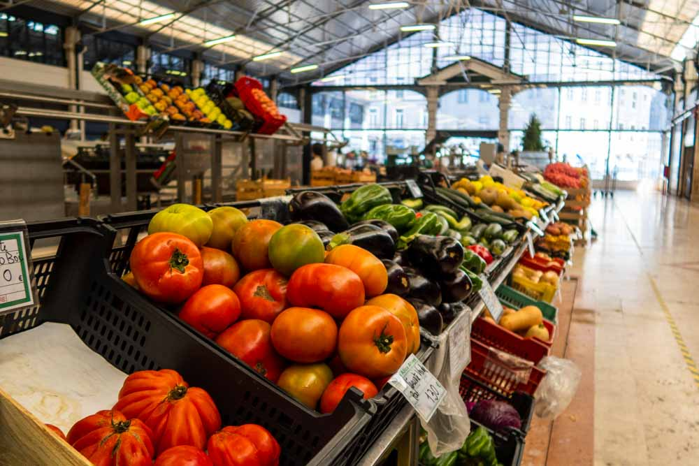 Produce at Mercado da Ribeira in Lisbon