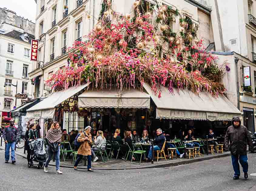 Traditional Paris Cafe