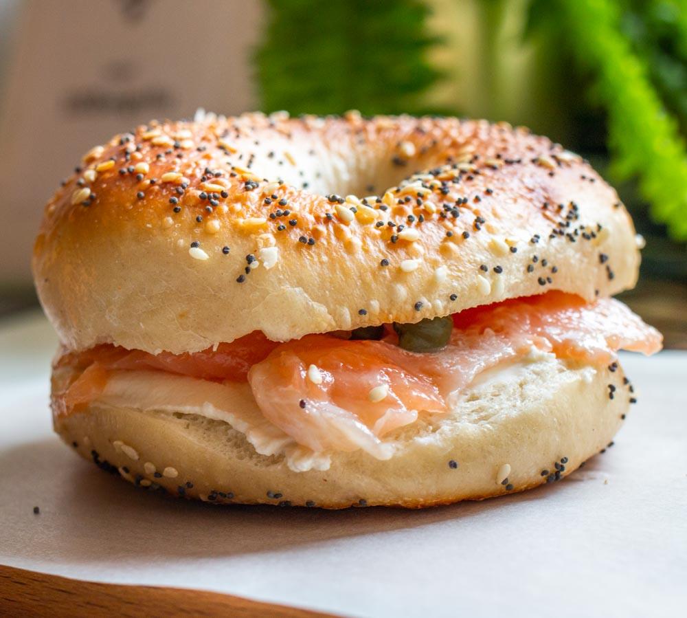 Bagel Sandwich at Beigelistai in Vilnius