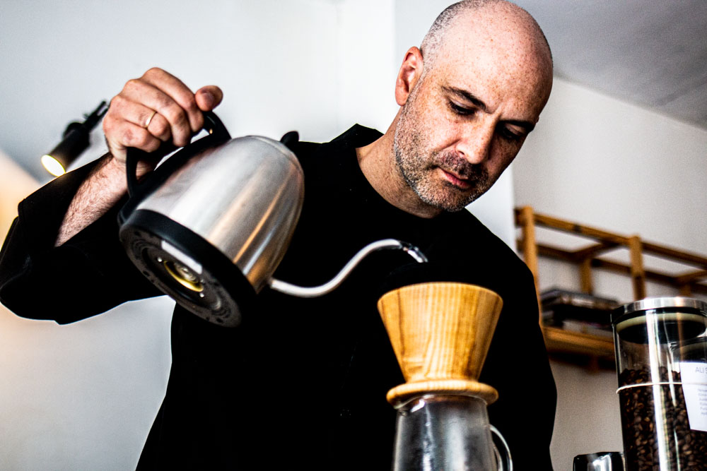 Barista at Crooked Nose and Coffee Stories in Vilnius