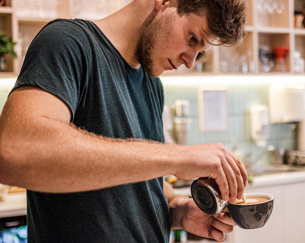 Barista at Italala Caffe in Vilnius