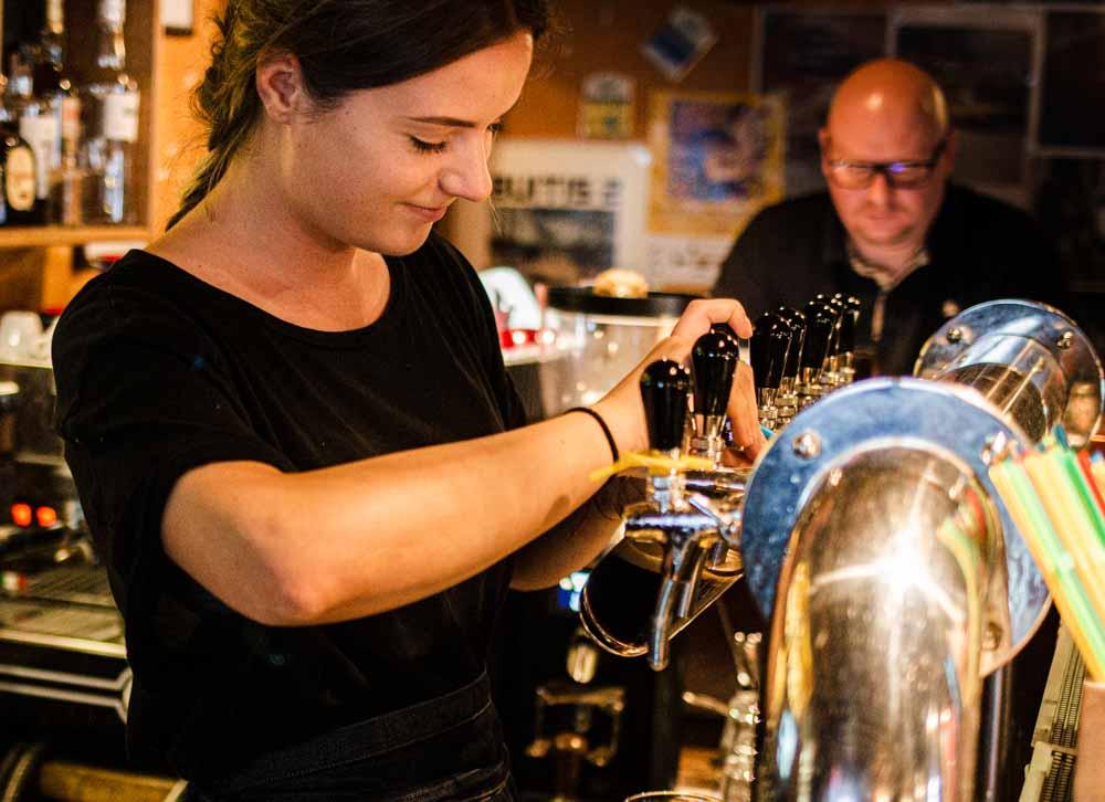 Bartender at Busi Trecias in Vilnius
