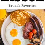 Pinterest image: image of Lisbon brunch with caption reading 'Lisbon Brunch Favorites""