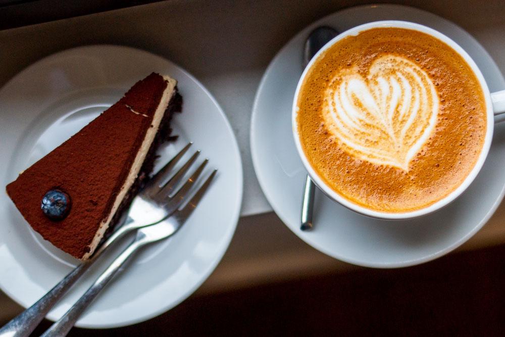 Cake and Coffee at Strange Love in Vilnius