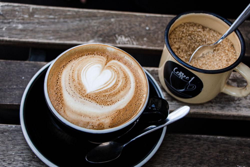 Cappuccino at Coffee1 in Vilnius