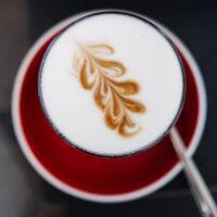 Cappuccino at Elska Coffee in Vilnius