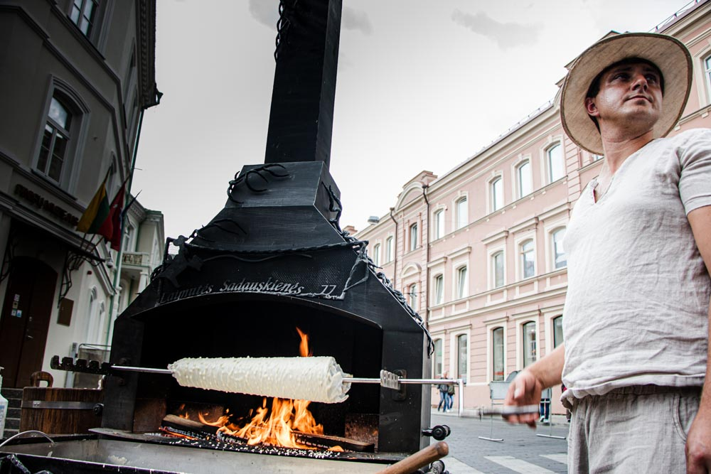 Chimney Cake in Vilnius