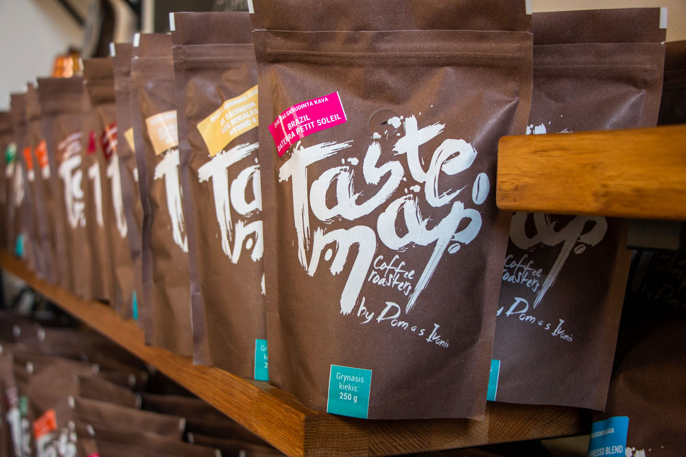 Coffee Bags at Taste Map in Vilnius