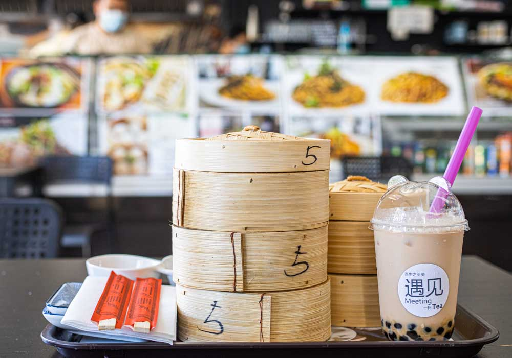 Dim Sum and Bubble Tea at Mercado Oriental Martim Moniz in Lisbon