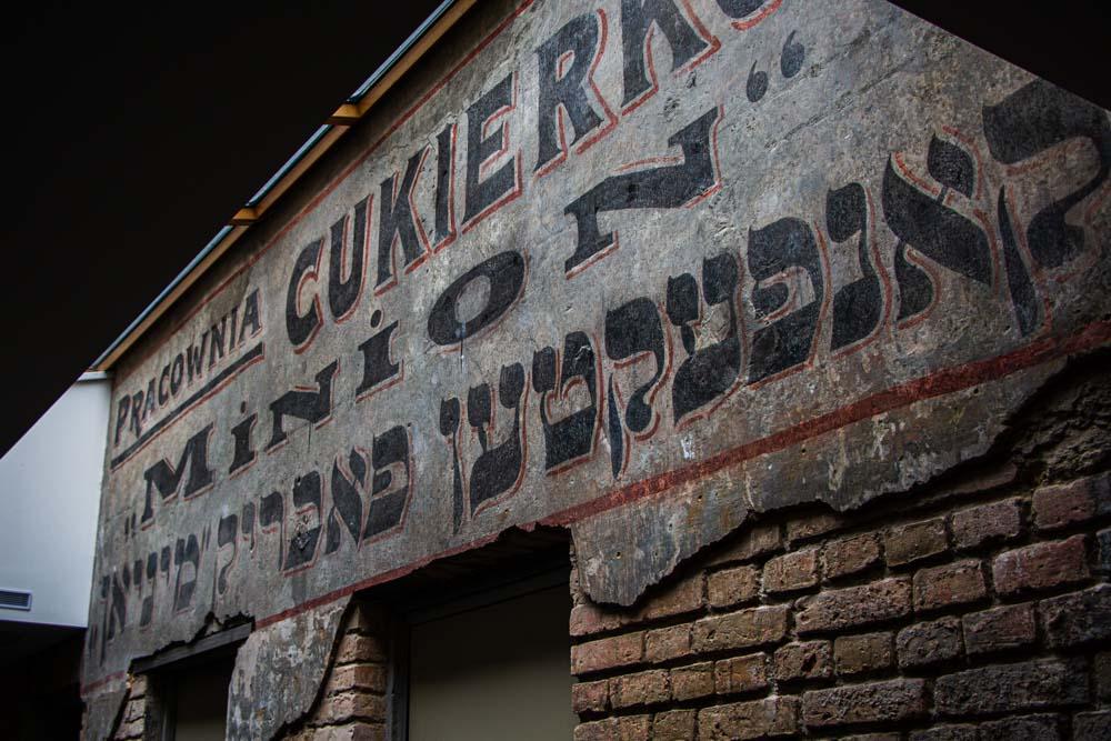 Jewish Sign in Vilnius
