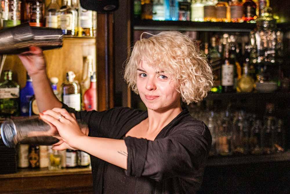 Mixologist at Nomads Cocktail Bar in Vilnius