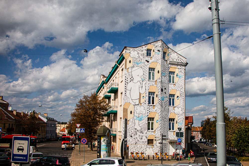 Painted Building in Vilnius