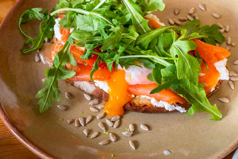 Salmon Toast at Flora and Fauna in Lisbon