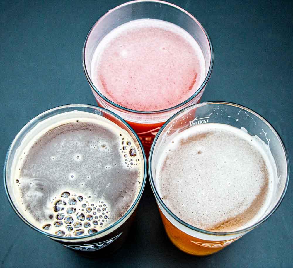Three Beers at Genys in Vilnius