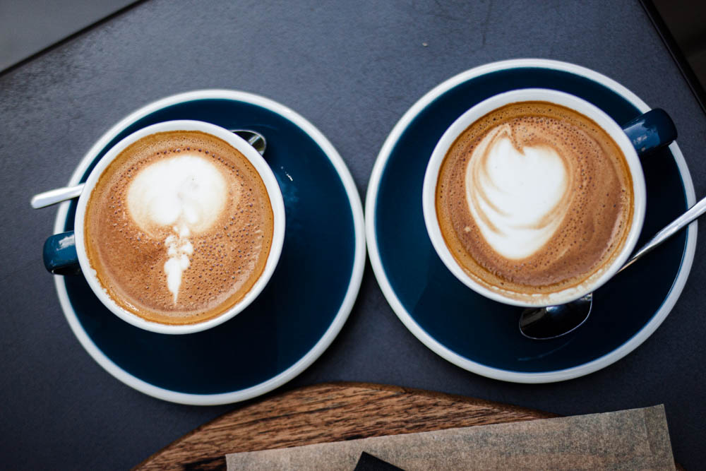 Two Cappuccinos at Taste Map in Vilnius