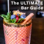 """Pinterest image: image of cocktail with caption reading 'Vilnius The Ultimate Bar Guide"""""""