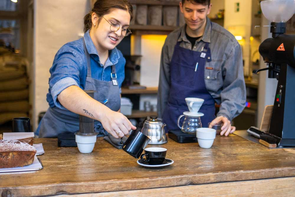 Baristas at The Barn in Berlin