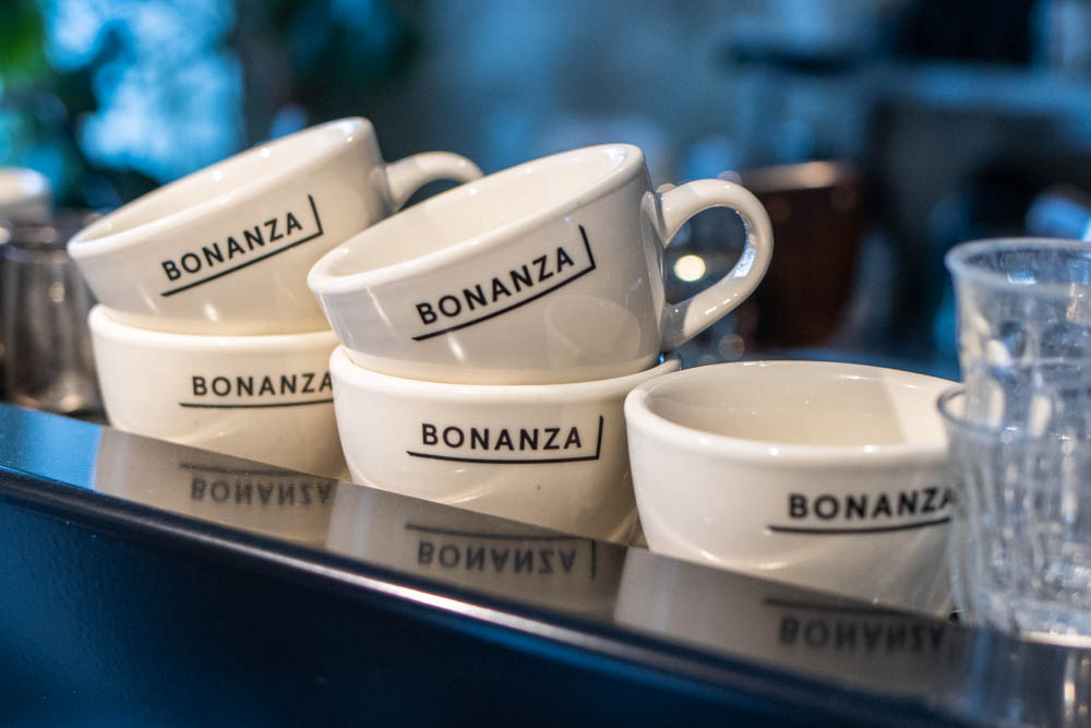 Coffee Mugs at Bonanza Coffee Heroes in Berlin