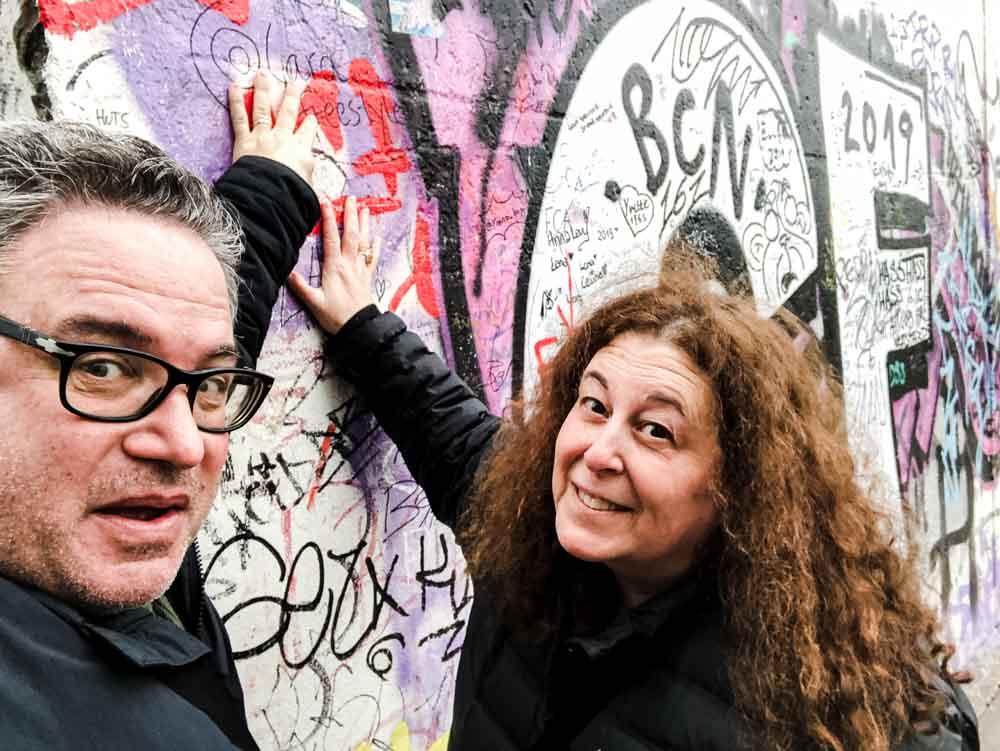 East Side Gallery Selfie at the Berlin Wall