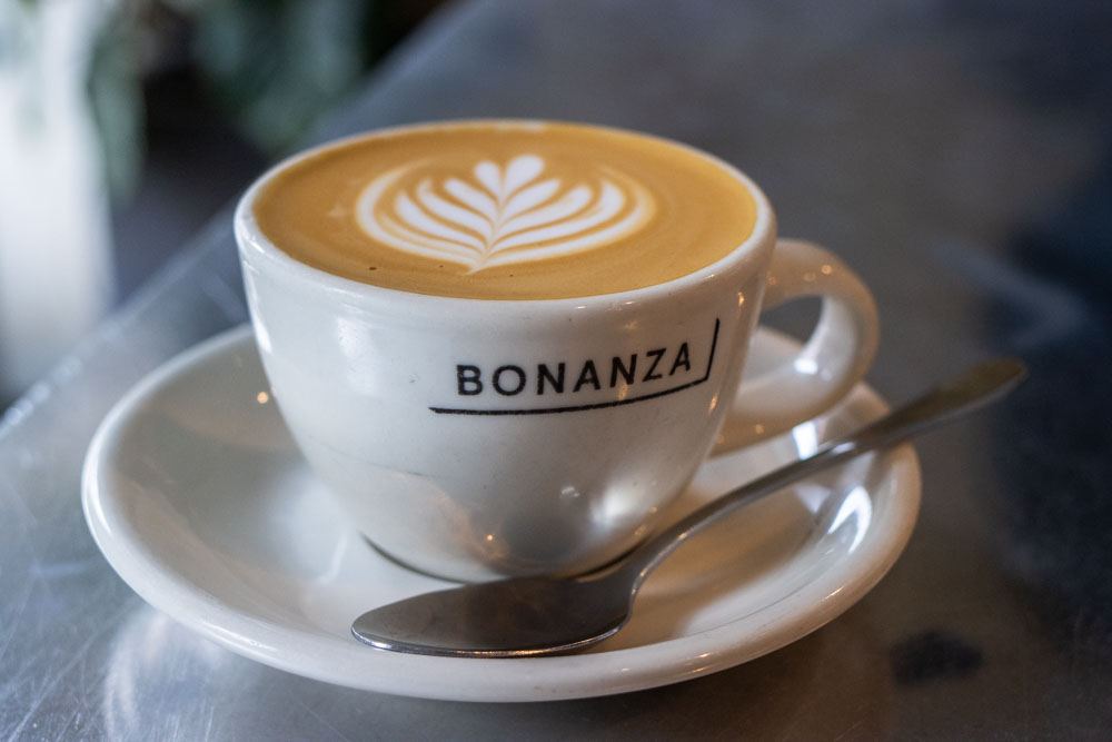 Flat White at Bonanza Coffee Heroes in Berlin