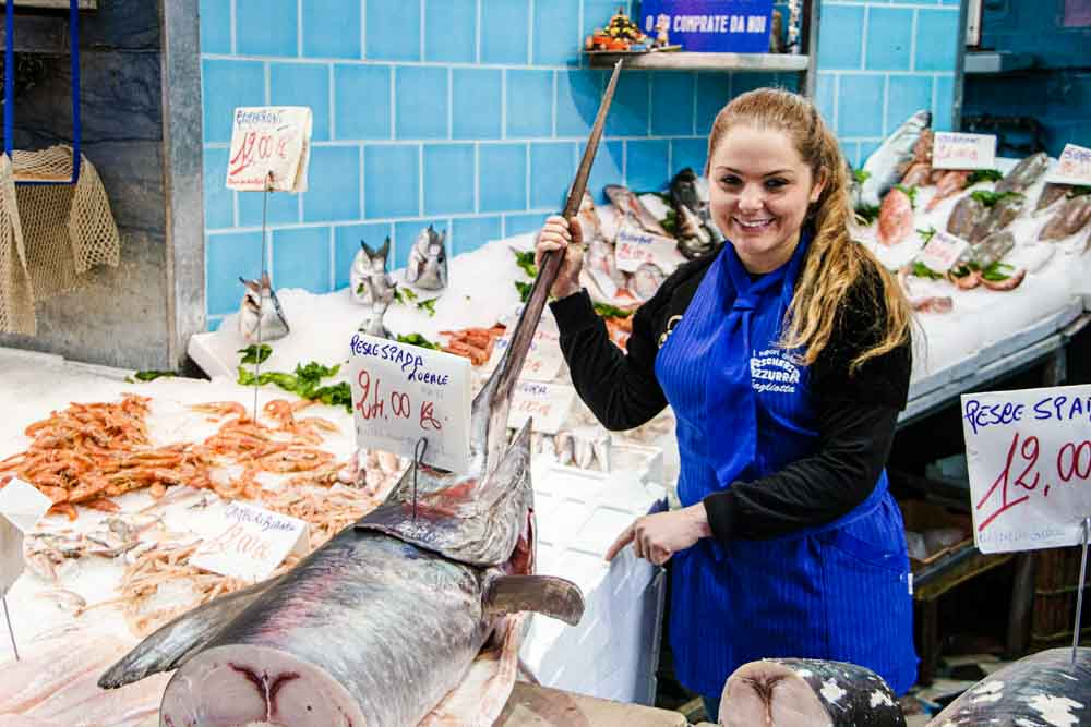 Seafood Vendor in Naples