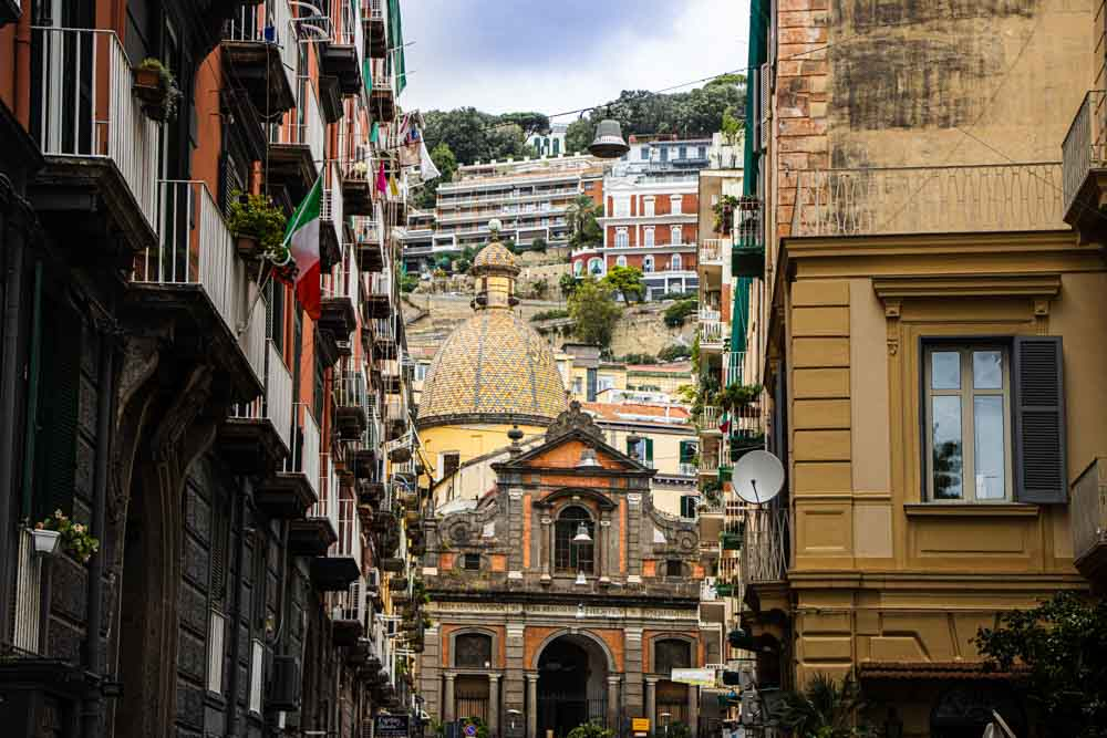 Buildings in Naples Italy