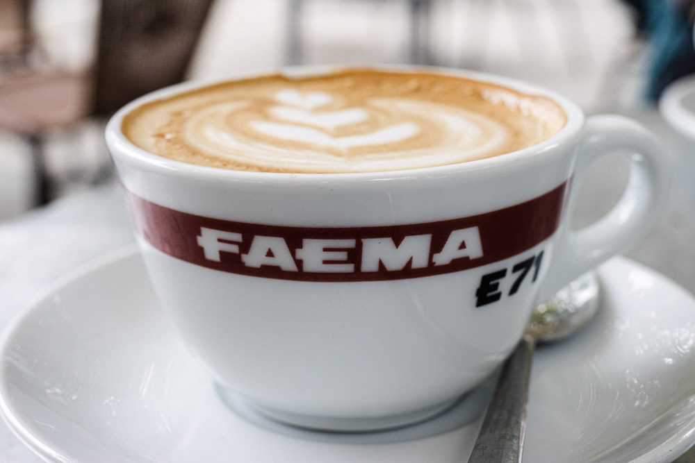 Cappuccino at Tram Depot in Rome