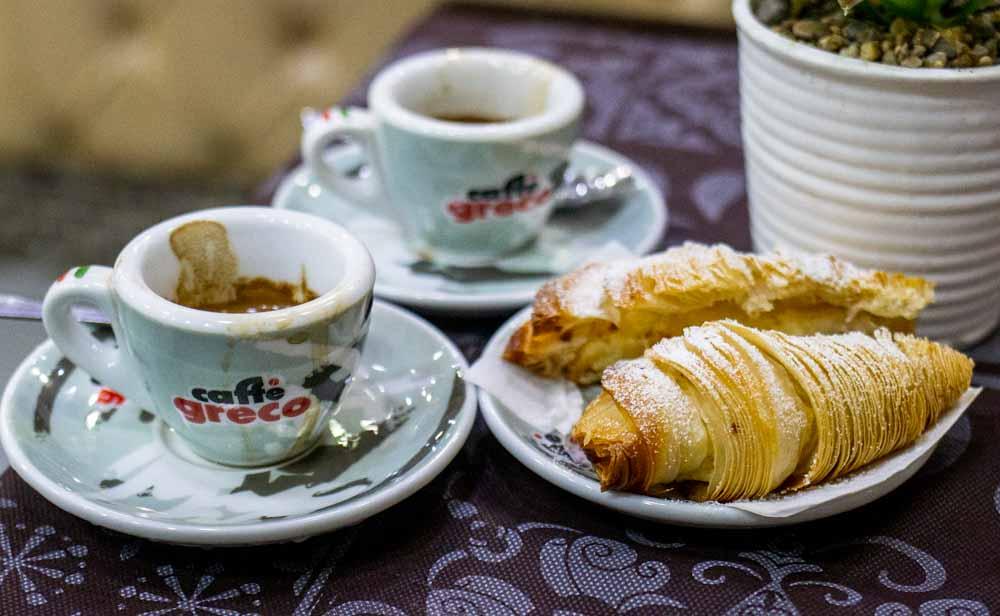 Coffee and Sfogliatella in Naples