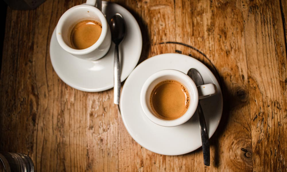 Coffees at Pergamino Caffe in Rome