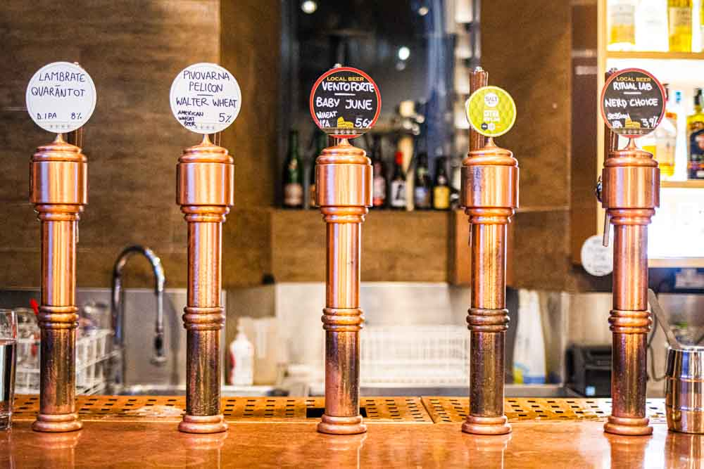 Craft Beer Taps at Be.Re in Rome