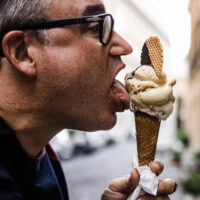 Daryl Eats Gelato at Come il Latte in Rome