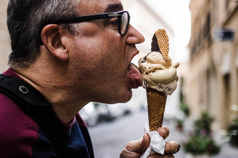 Daryl Eats Gelato at Come il Latte in Rome