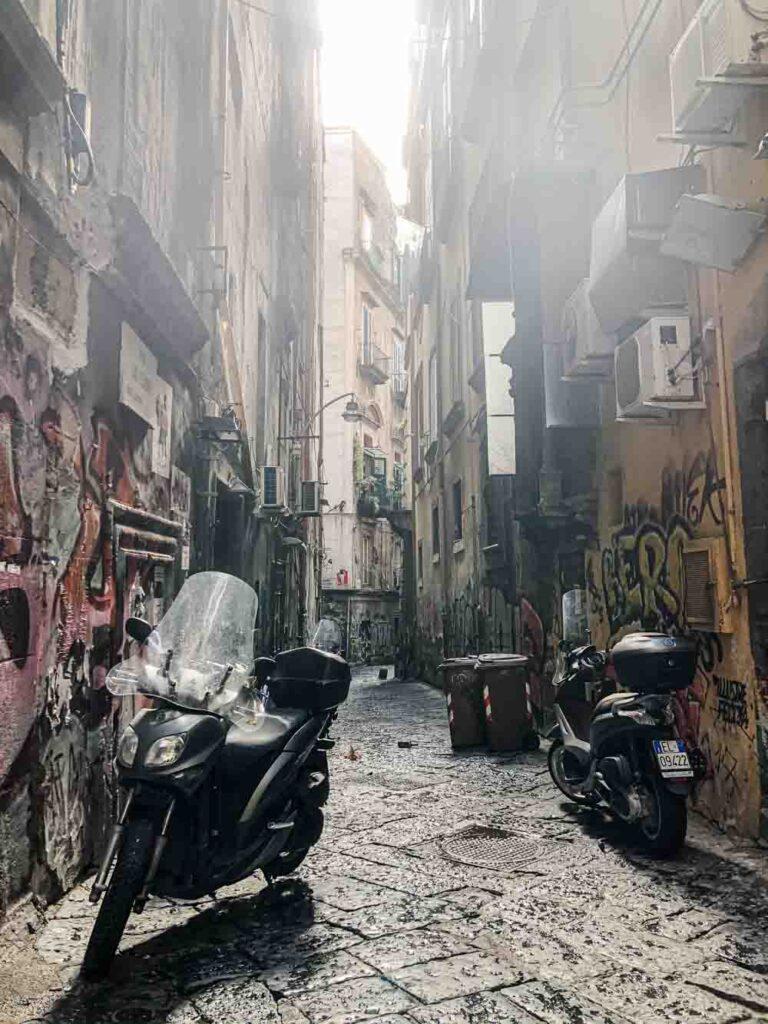 Naples Alley with Sun Streak