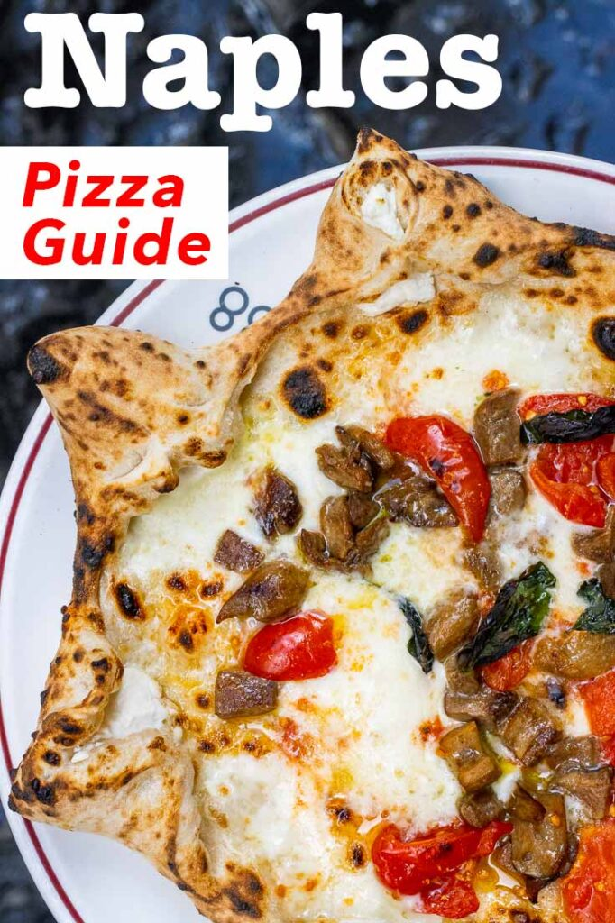 Pinterest image: image of pizza with caption reading 'Naples Pizza Guide'