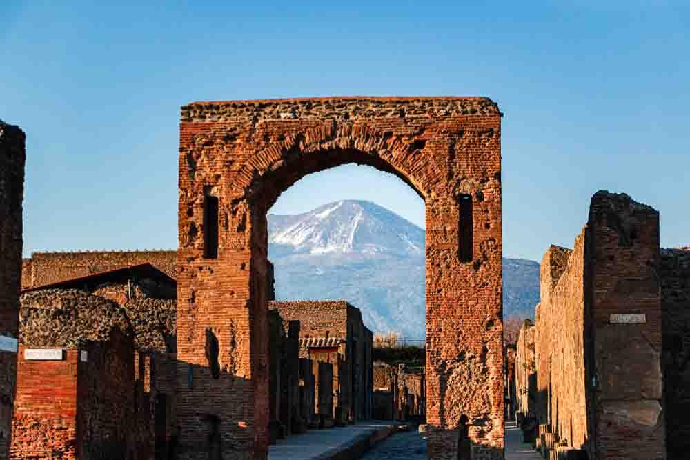 Pompeii with Mount Vesuvius View